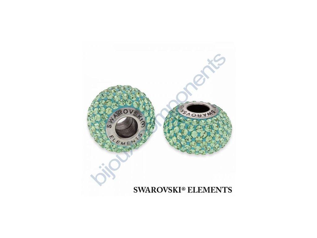 SWAROVSKI ELEMENTS BeCharmed Pavé s xilion šatony - light green/peridot steel, 14mm