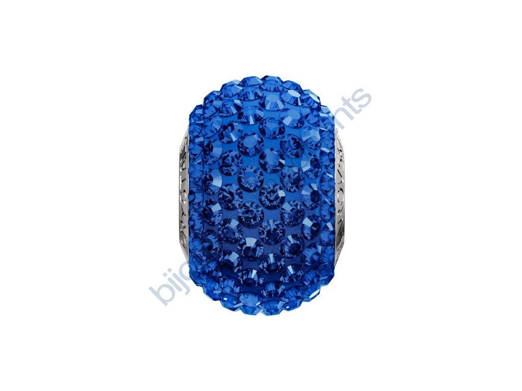 SWAROVSKI CRYSTALS BeCharmed Pavé s xilion šatony - majestic blue/dark sapphire steel, 14mm