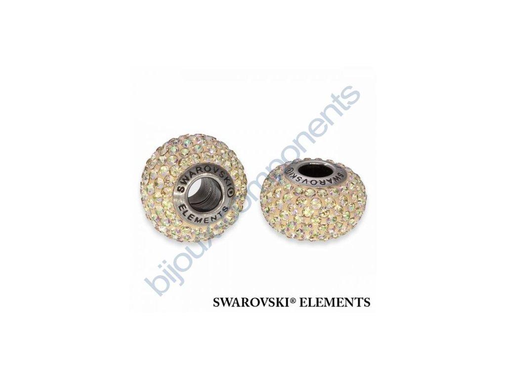 SWAROVSKI ELEMENTS BeCharmed Pavé s xilion šatony - pearl silk/crystal lumin green steel, 14mm