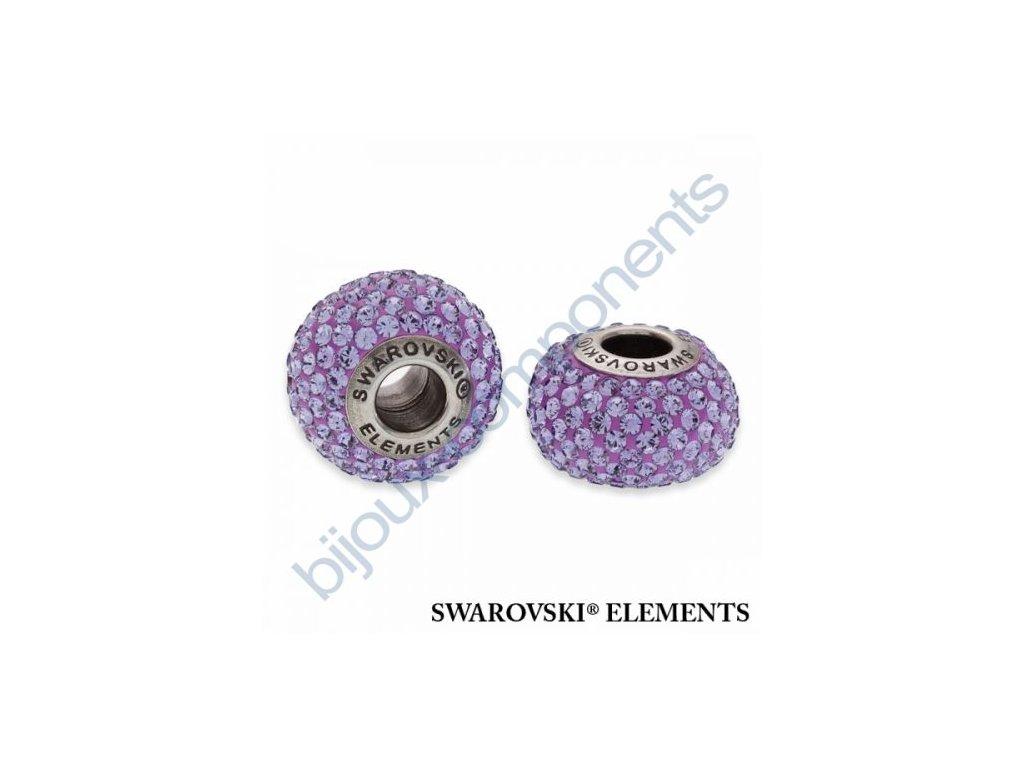 SWAROVSKI ELEMENTS BeCharmed Pavé s xilion šatony - purple/tanzanite steel, 14mm