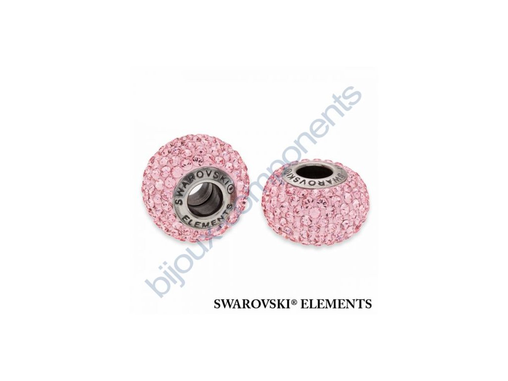 SWAROVSKI ELEMENTS BeCharmed Pavé s xilion šatony - rose/light rose steel, 14mm