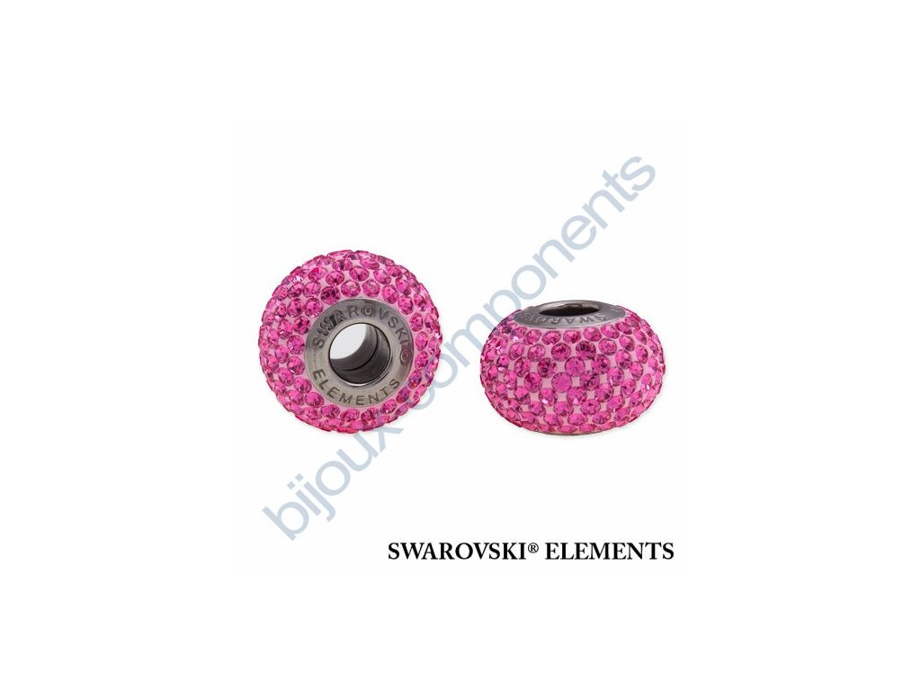 SWAROVSKI ELEMENTS BeCharmed Pavé s xilion šatony - rose/rose steel, 14mm