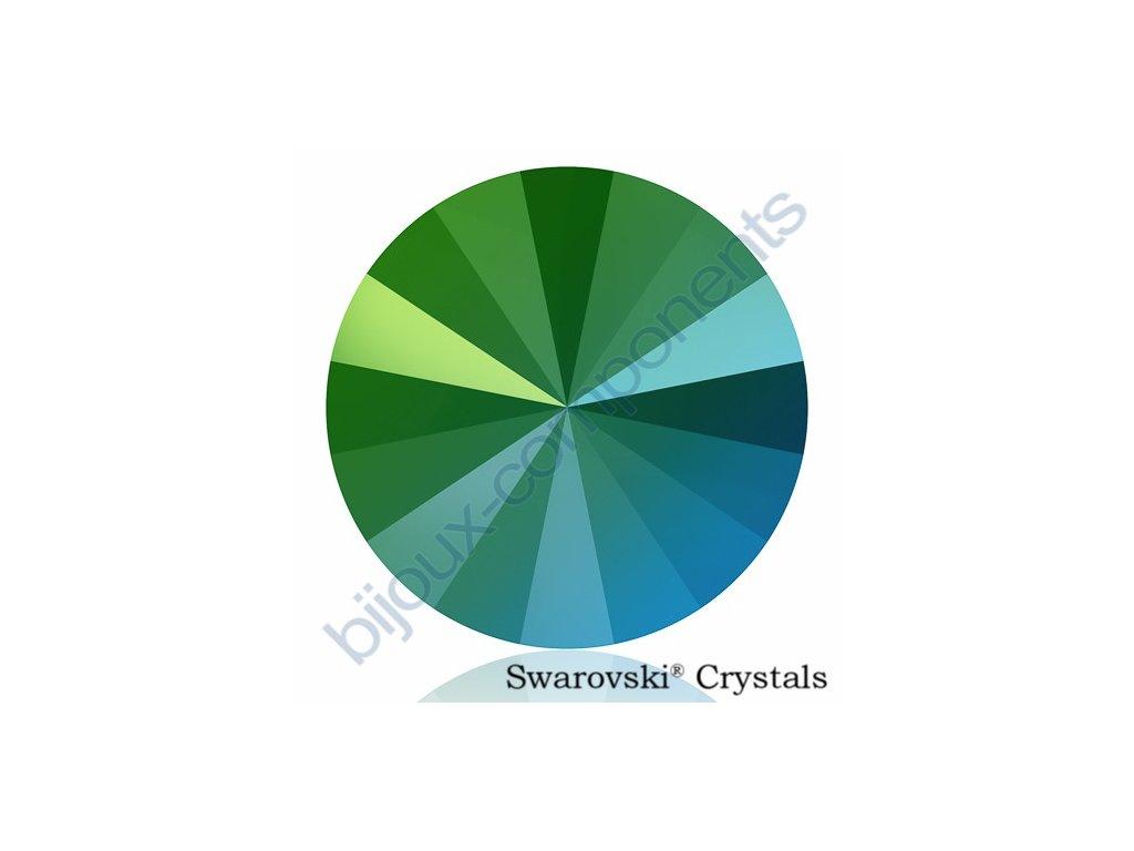 SWAROVSKI CRYSTALS kameny - Rivoli, crystal scarabeus green F, 14mm