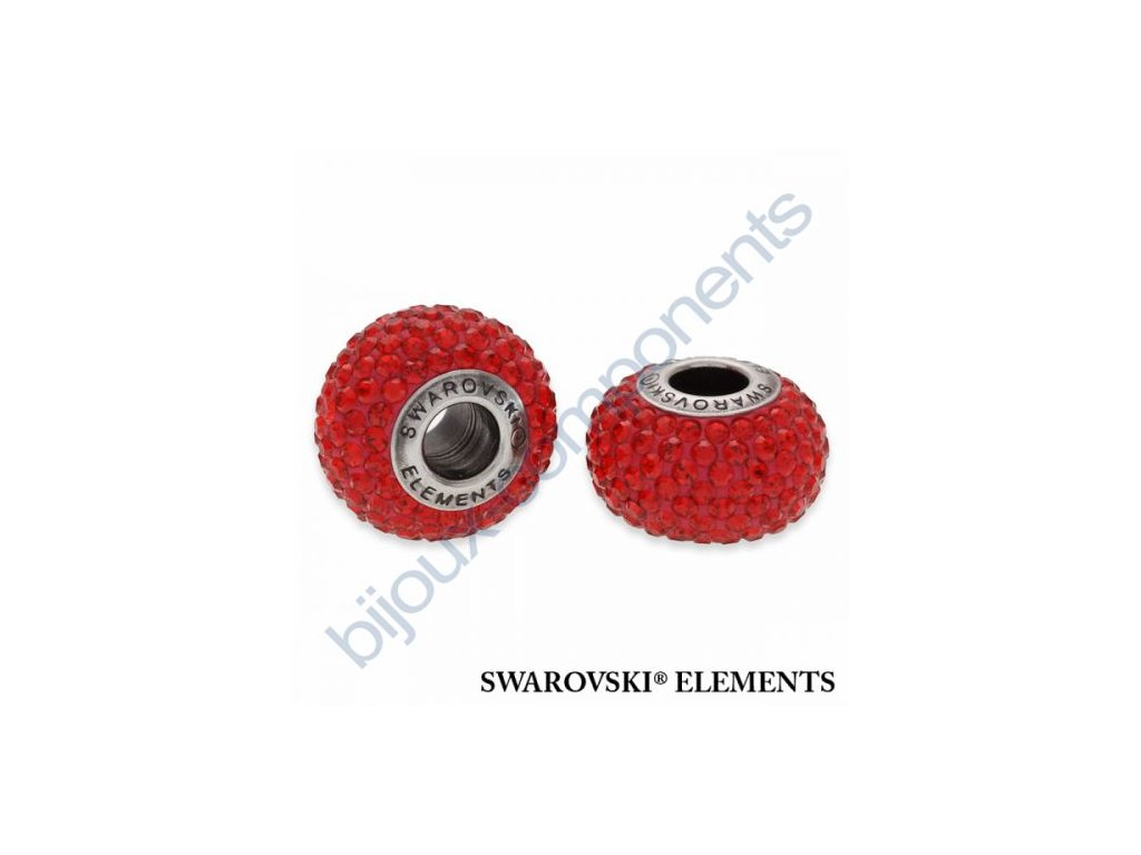 SWAROVSKI ELEMENTS BeCharmed Pavé s xilion šatony - shining red/indian siam steel, 14mm