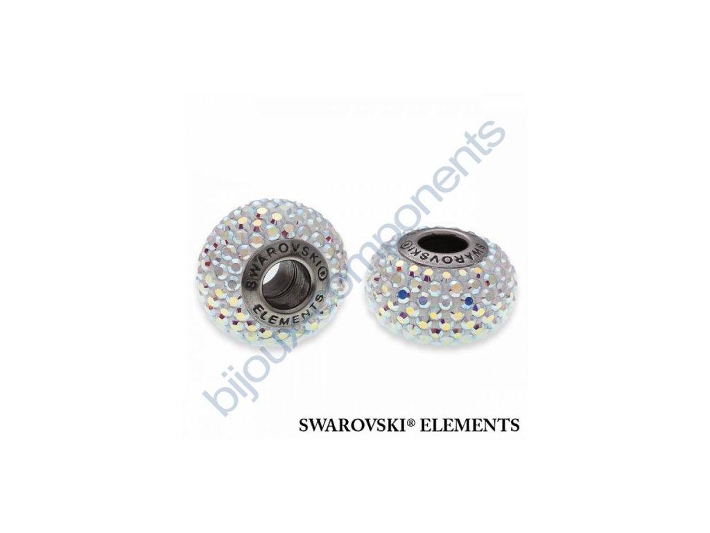 SWAROVSKI ELEMENTS BeCharmed Pavé s xilion šatony - white/crystal AB steel, 14mm