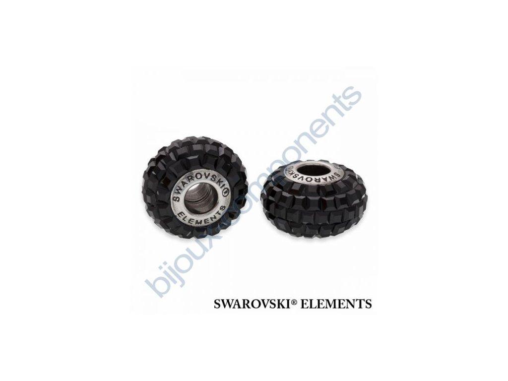 SWAROVSKI ELEMENTS BeCharmed Pavé s xilion square fancy stone - black/jet steel, 15mm