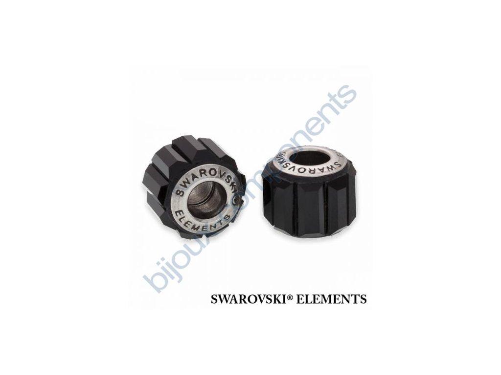 SWAROVSKI ELEMENTS BeCharmed Pavé s baguette fancy stone - black/jet shadow steel, 10,5mm