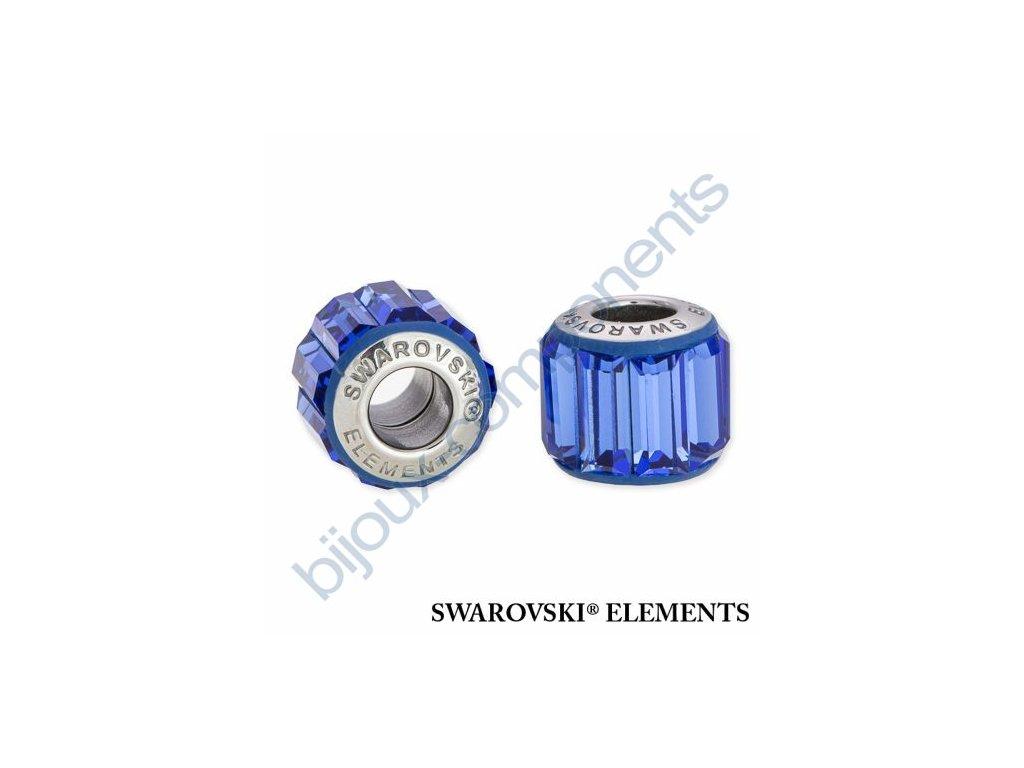 SWAROVSKI ELEMENTS BeCharmed Pavé s baguette fancy stone - dark blue/sapphire steel, 10,5mm
