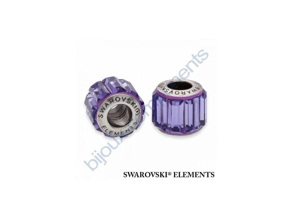 SWAROVSKI ELEMENTS BeCharmed Pavé s baguette fancy stone - purple/tanzanite steel, 10,5mm