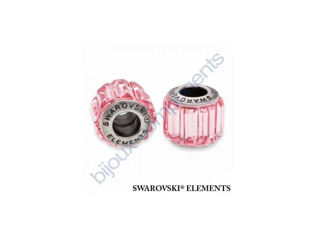 SWAROVSKI ELEMENTS BeCharmed Pavé s baguette fancy stone - rose/light rose steel, 10,5mm