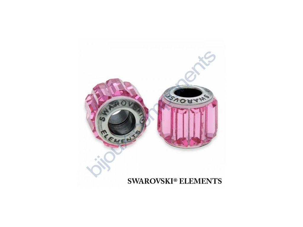 SWAROVSKI ELEMENTS BeCharmed Pavé s baguette fancy stone - rose/rose steel, 10,5mm