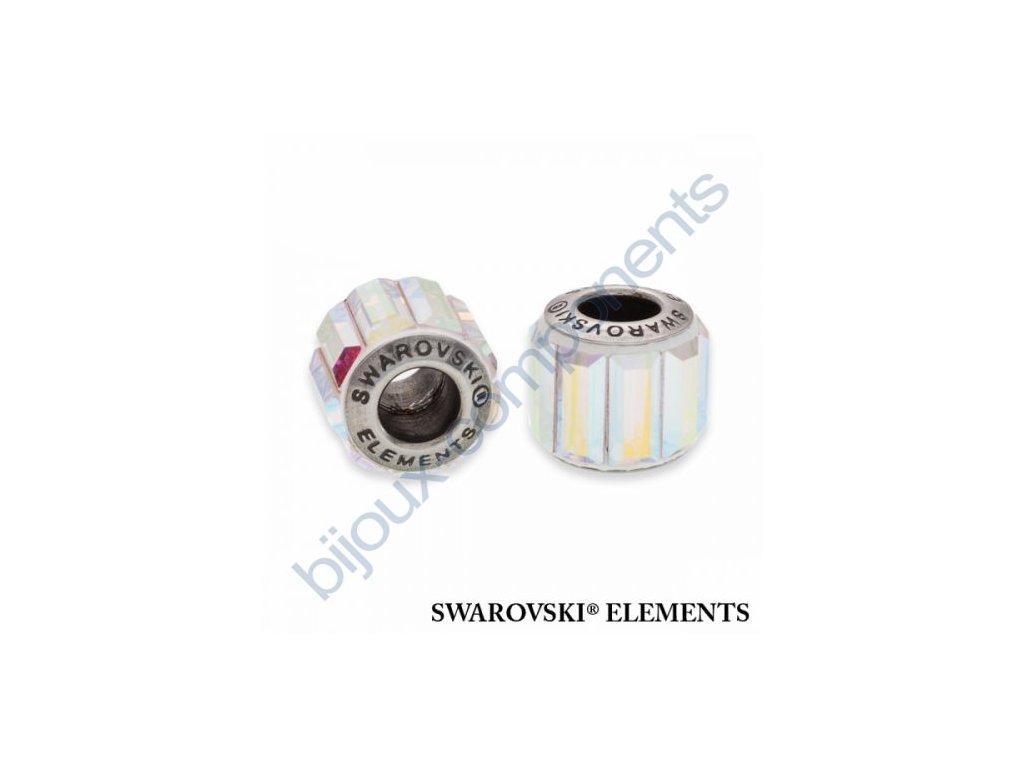 SWAROVSKI ELEMENTS BeCharmed Pavé s baguette fancy stone - white/crystal AB steel, 10,5mm
