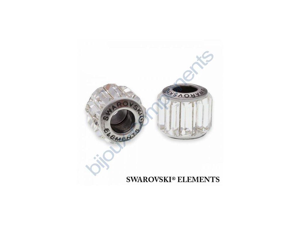 SWAROVSKI ELEMENTS BeCharmed Pavé s baguette fancy stone - white/crystal steel, 10,5mm