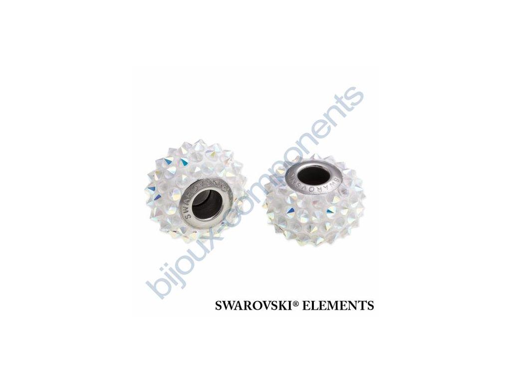 SWAROVSKI ELEMENTS BeCharmed Pavé spikes - white/crystal AB steel, 16mm