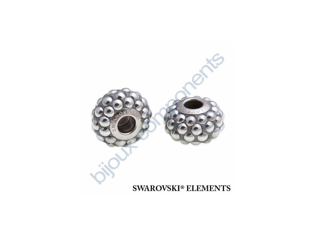 SWAROVSKI ELEMENTS BeCharmed Pavé cabochon - silver/chrom steel, 15,5mm
