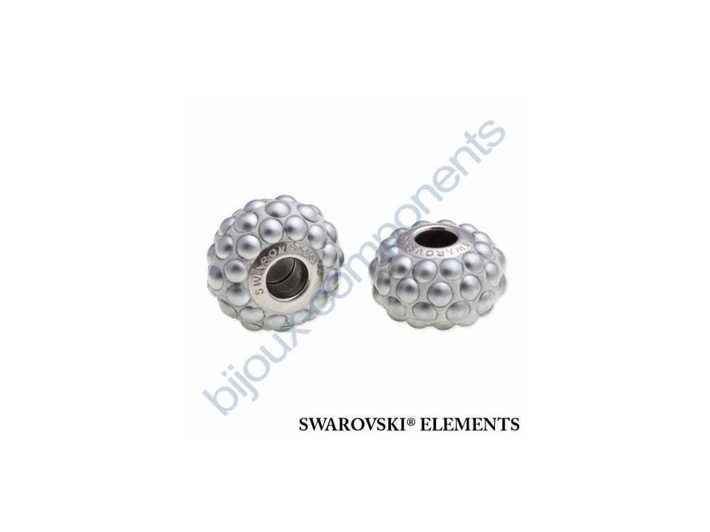SWAROVSKI ELEMENTS BeCharmed Pavé cabochon - silver/chrom matt finish steel, 15,5mm