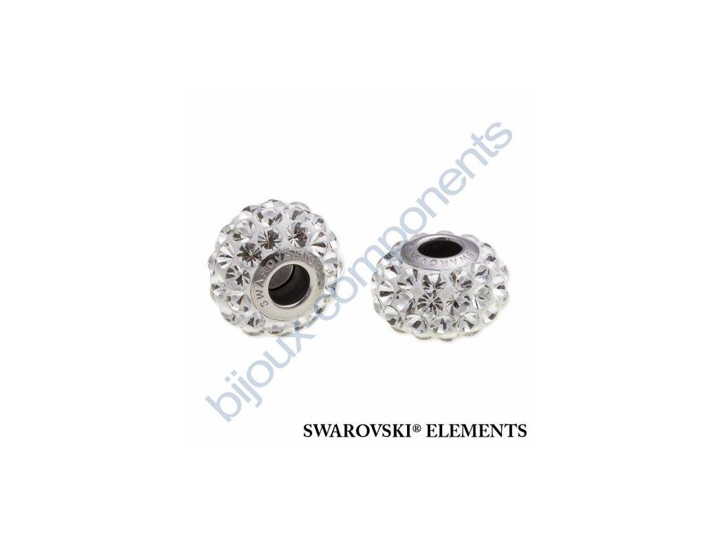 SWAROVSKI ELEMENTS BeCharmed Pavé cabochon - white/crystal steel, 15,5mm