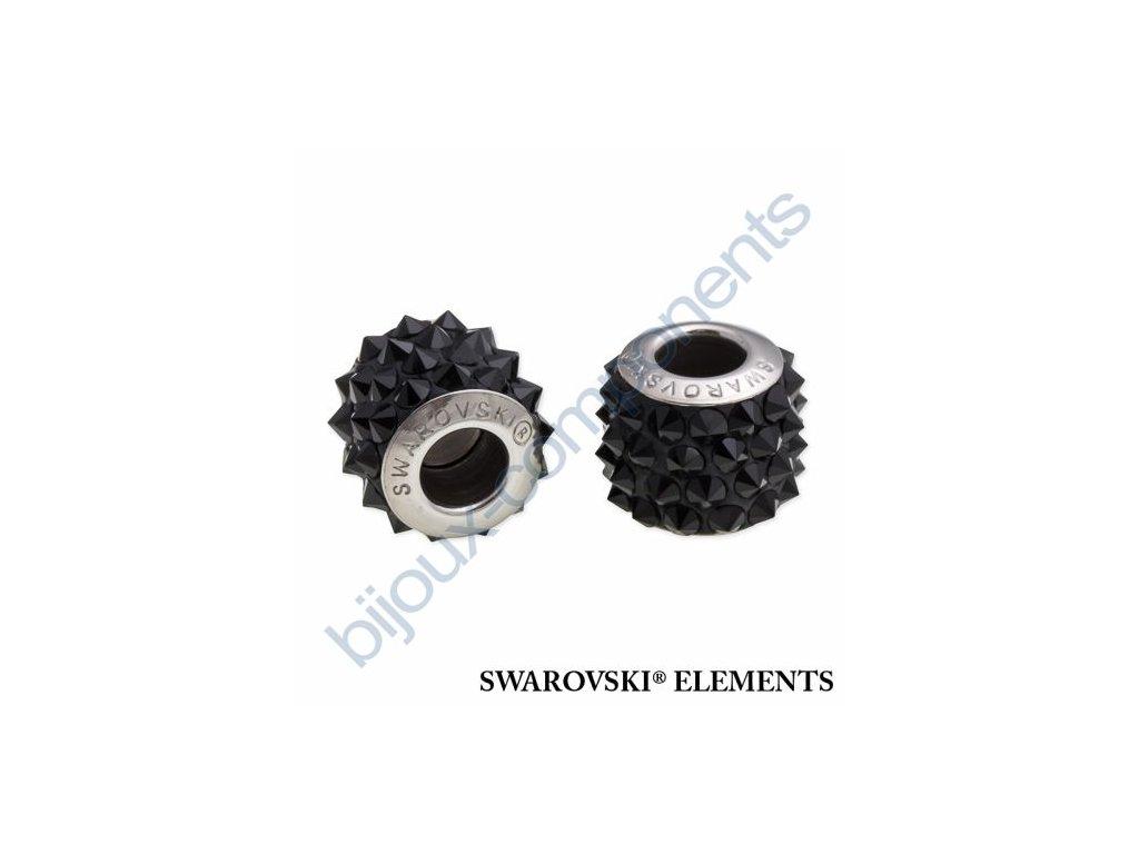 SWAROVSKI ELEMENTS BeCharmed Pavé spikes - black/jet steel, 11,5mm