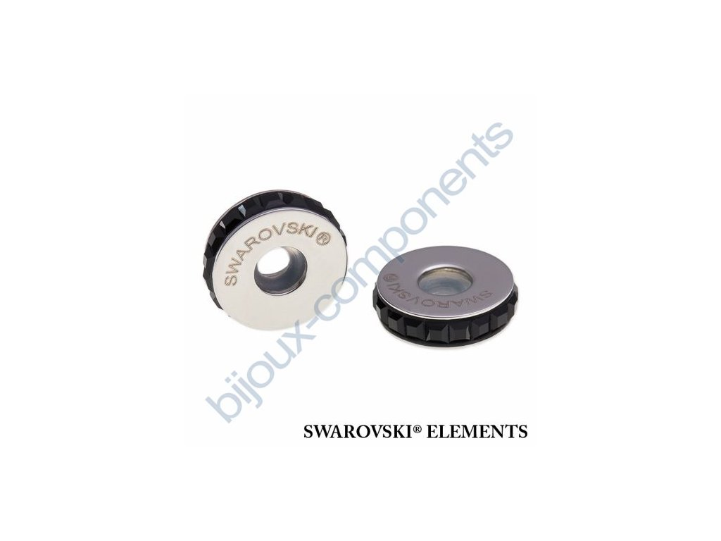 SWAROVSKI ELEMENTS BeCharmed Pavé Stopper s xilion square fancy stone - black/jet steel, 13mm