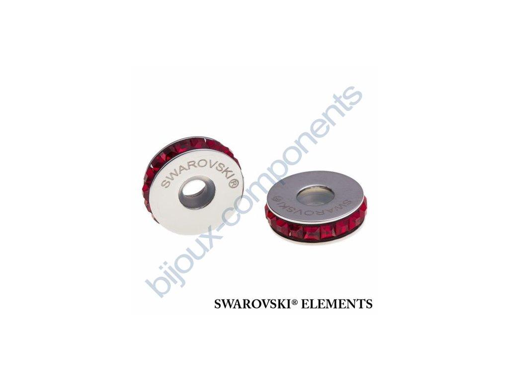 SWAROVSKI ELEMENTS BeCharmed Pavé Stopper s xilion square fancy stone - dark red/siam steel, 13mm