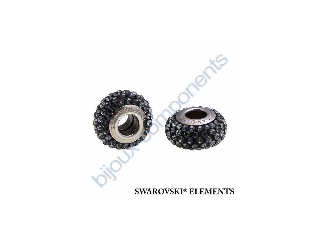 SWAROVSKI ELEMENTS BeCharmed Pavé slim - black/silver night steel, 13,5mm