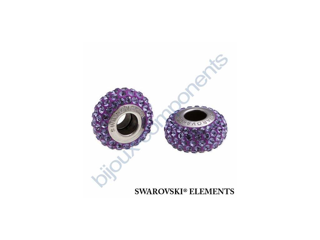 SWAROVSKI ELEMENTS BeCharmed Pavé slim - purple/tanzanite steel, 13,5mm
