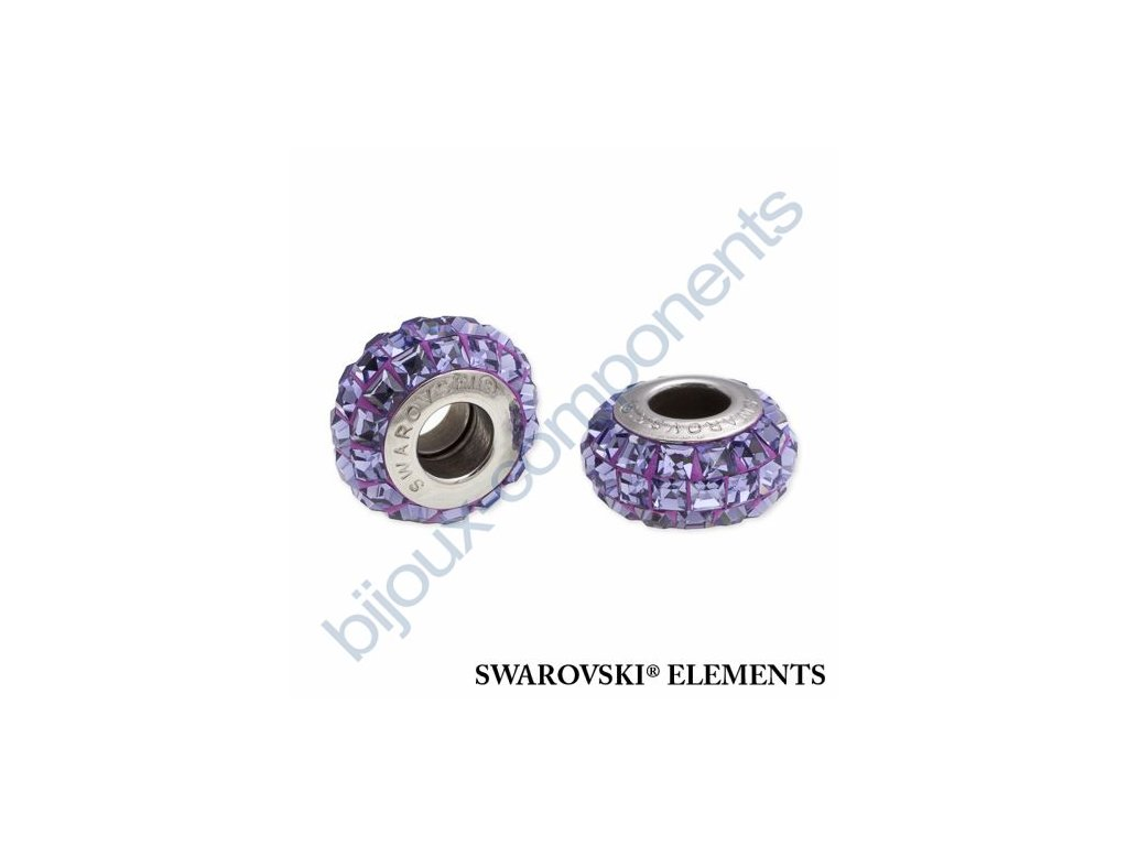 SWAROVSKI ELEMENTS BeCharmed Pavé slim - purple/tanzanite steel, 13mm