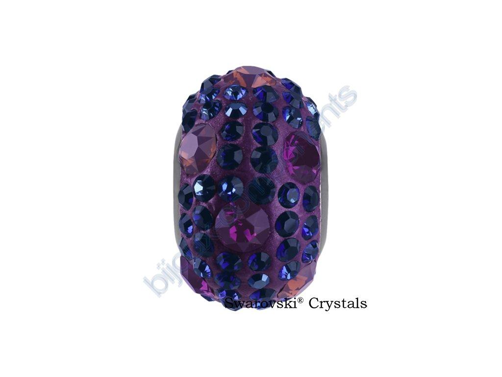 SWAROVSKI CRYSTALS BeCharmed Pavé - shining lilac/bermuda blue, dark indigo, cyclamen, opal, amethyst, steel, 15mm