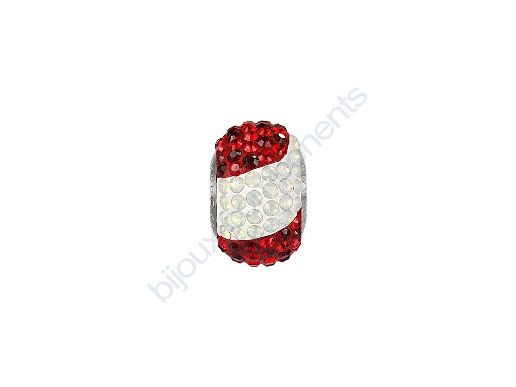 SWAROVSKI ELEMENTS BeCharmed Pavé s xilion šatony - národní barvy/ocel, 14mm