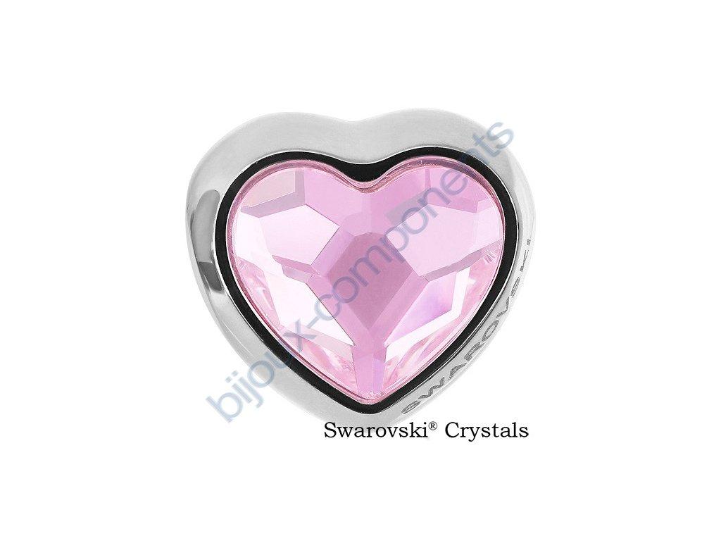 SWAROVSKI CRYSTALS BeCharmed Heart Bead - rosaline, 14mm