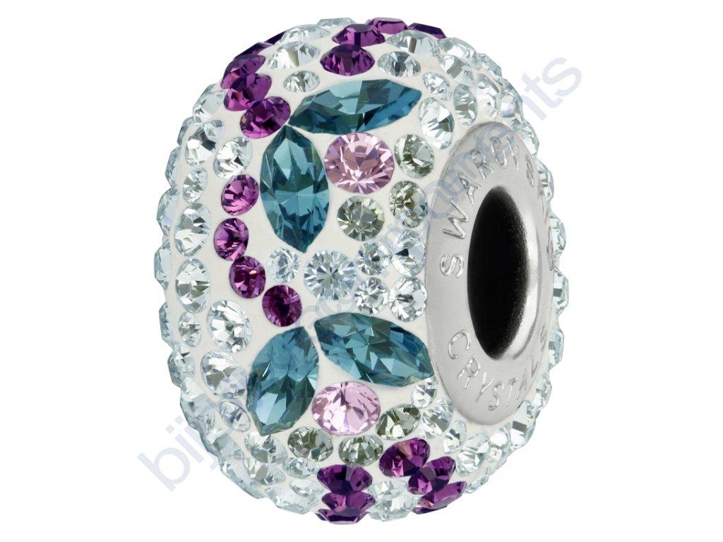 SWAROVSKI CRYSTALS BeCharmed Pavé - white/indicolite, light amethyst, black diamond, amethyst, light azore, steel, 14mm
