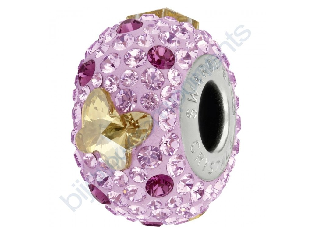 SWAROVSKI CRYSTALS BeCharmed Pavé - mauve/crystal golden shadow, amethyst, light amethyst, steel, 14mm