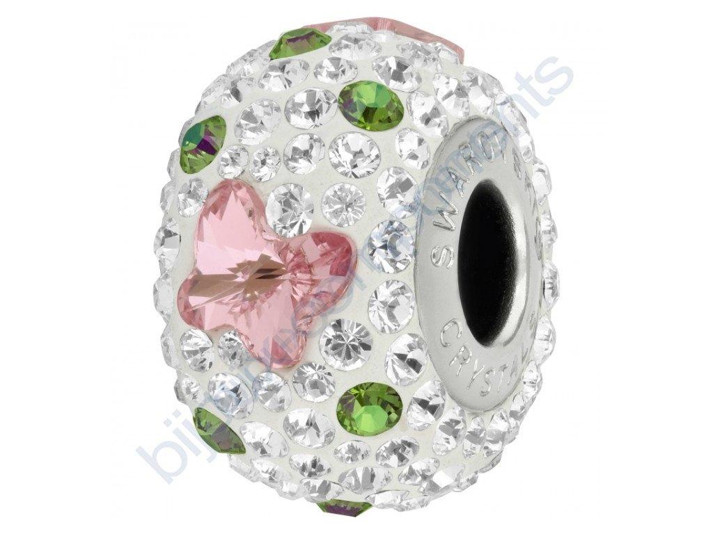 SWAROVSKI CRYSTALS BeCharmed Pavé - white/light rose, crystal paradise shine, crystal, steel, 14mm