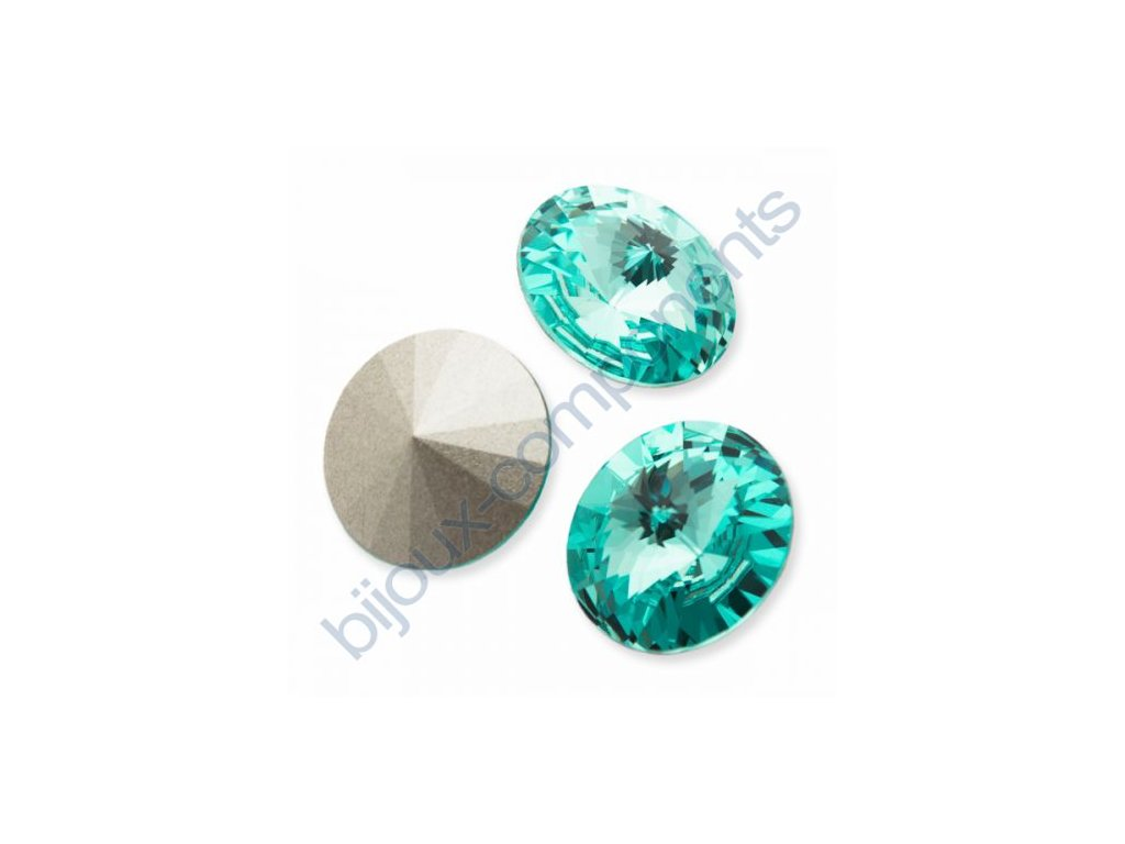 SWAROVSKI ELEMENTS kameny - Rivoli Chaton, light turquoise, 14mm