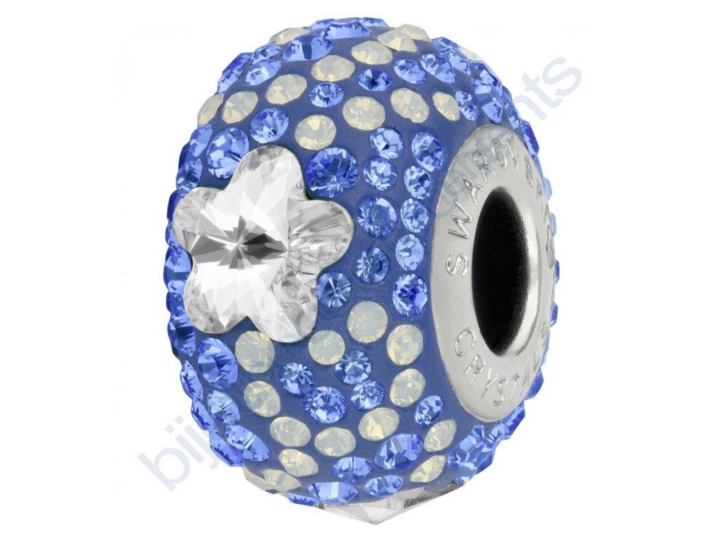 SWAROVSKI CRYSTALS BeCharmed Pavé - sapphire/crystal, white opal, sapphire, steel, 14mm
