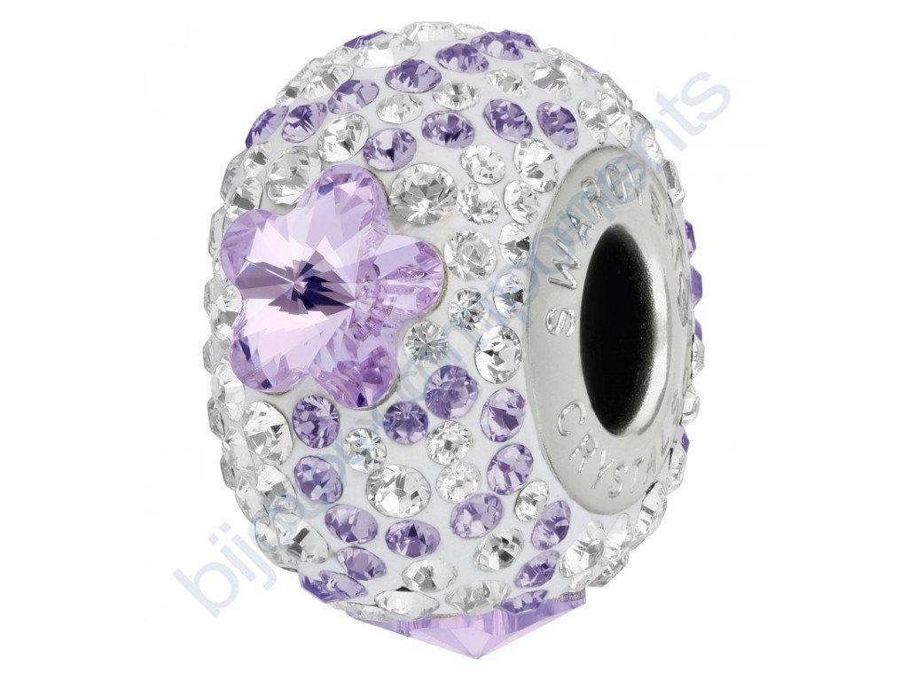 SWAROVSKI CRYSTALS BeCharmed Pavé - white/violet, tanzanite, crystal, steel, 14mm