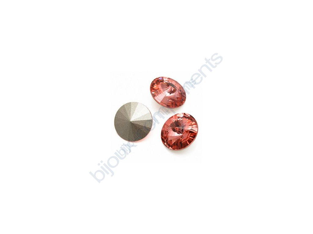 SWAROVSKI ELEMENTS kameny - Rivoli Chaton, rose peach, 14mm