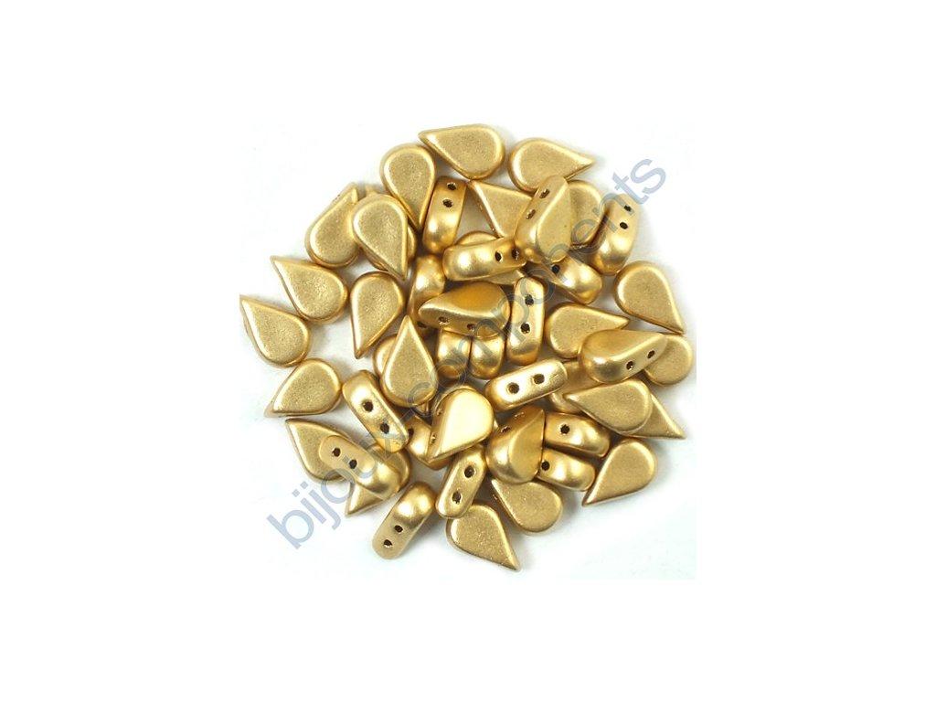Amos® par Puca®, light gold mat, 8x5x3 mm