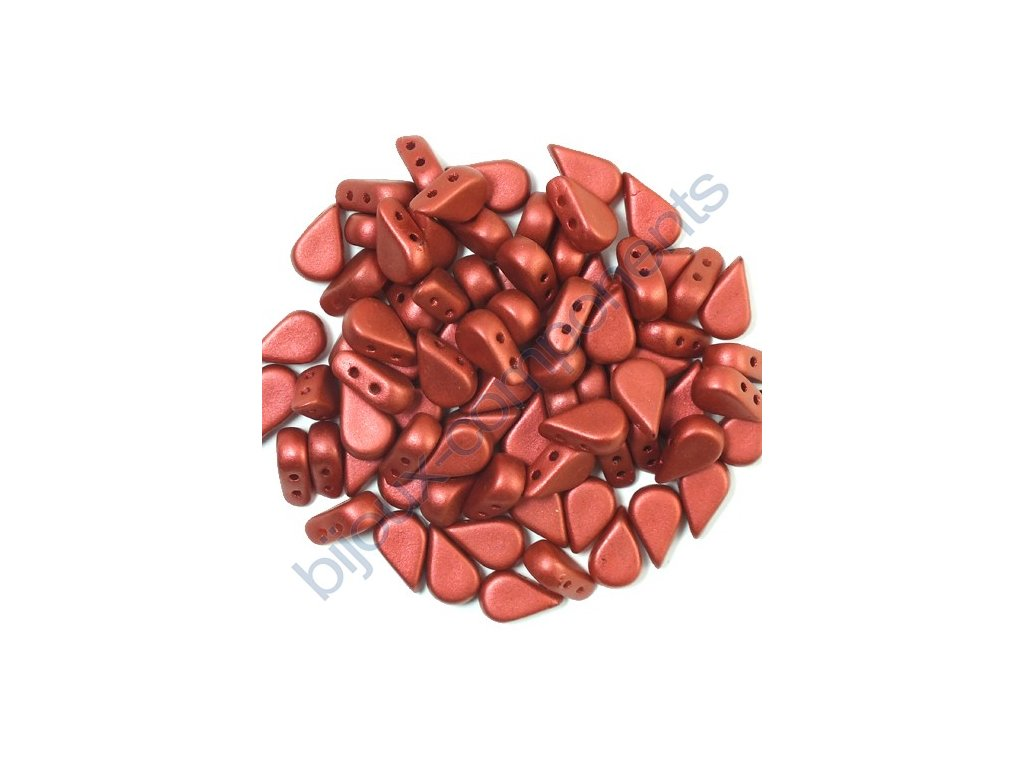 Amos® par Puca®, red metallic mat, 8x5x3 mm