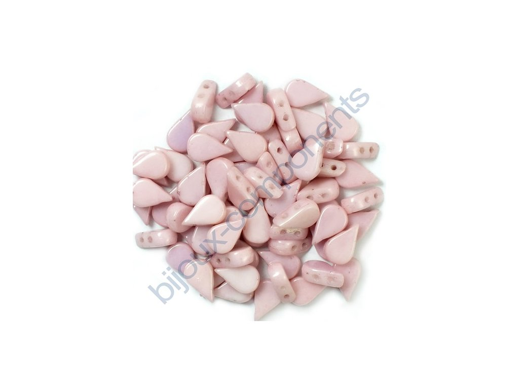 Amos® par Puca®, opaque light rose ceramic look, 8x5x3 mm