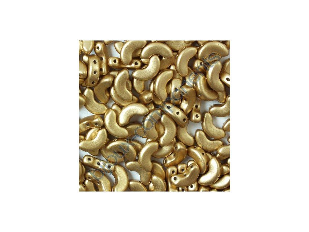 Arcos par Puca, Light Gold Mat, 10x5mm, 12ks