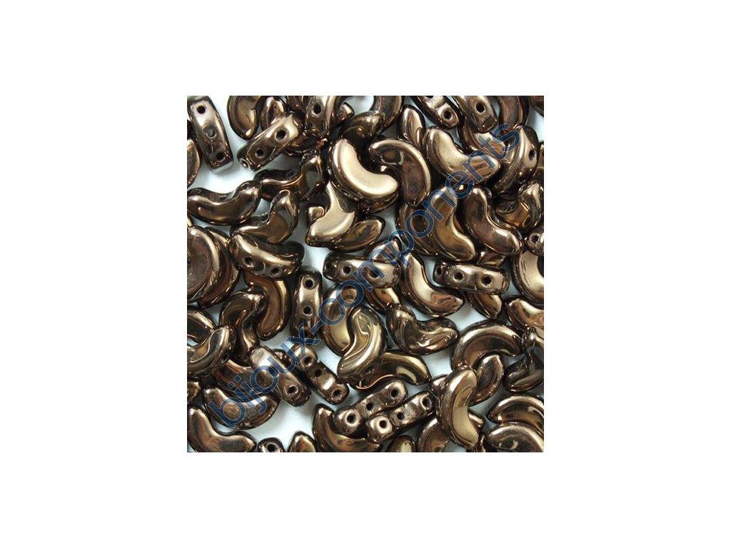 Arcos par Puca, Dark Bronze, 10x5mm, 12ks
