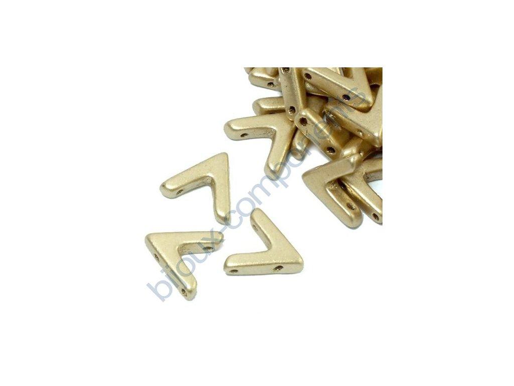 AVA beads, Aztec Gold, 10x5mm, 2ks