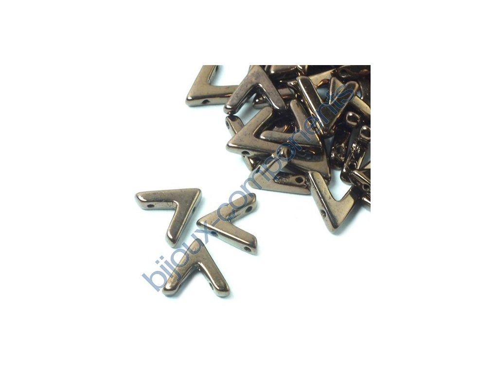 AVA beads, Jet Bronze, 10x5mm, 2ks