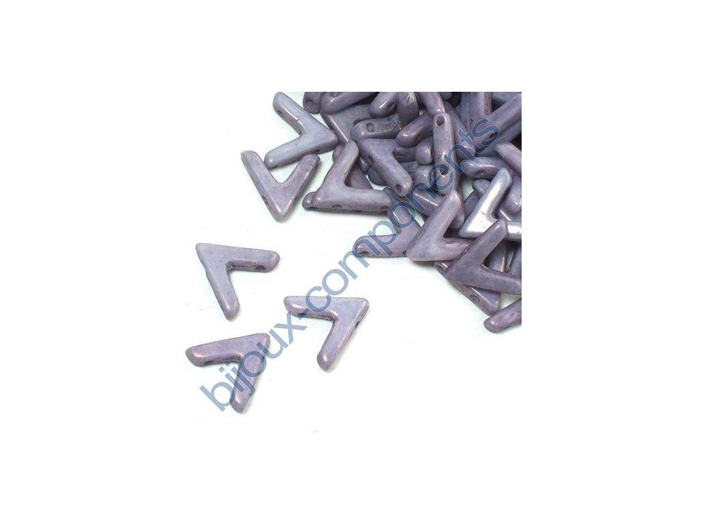 AVA beads, White Lila Vega Luster, 10x5mm, 2ks