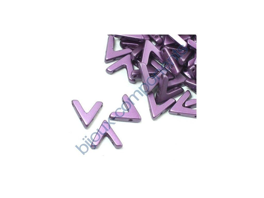 AVA beads, Pastel Bordeaux, 10x5mm, 2ks