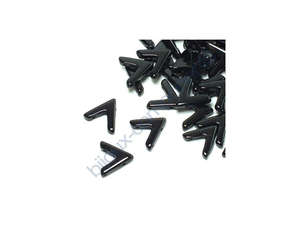 AVA beads, Jet, 10x5mm, 2ks