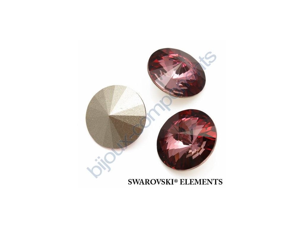 SWAROVSKI ELEMENTS kameny - Rivoli Chaton, crystal antiqupink F, SS47 (cca 10mm)