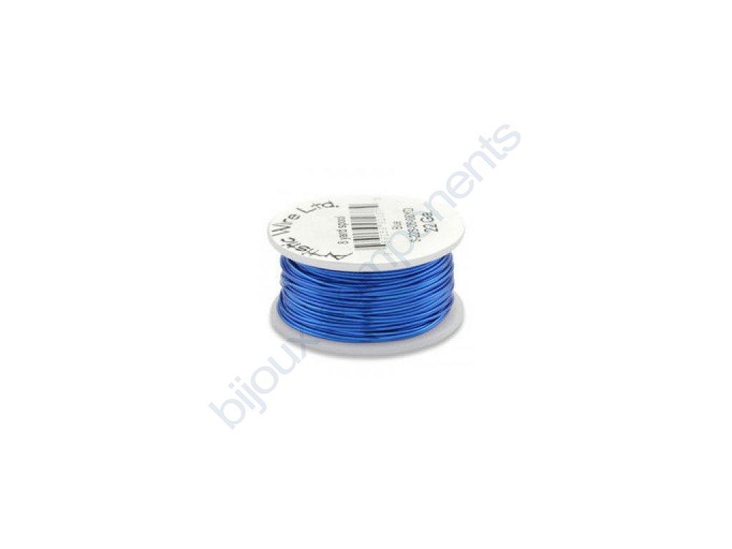 Umělecký barevný drát - stříbřitě modrý