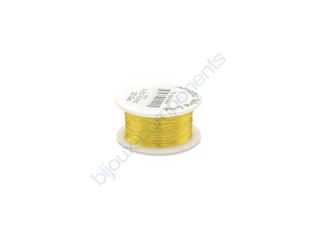 Umělecký barevný drát - citronový